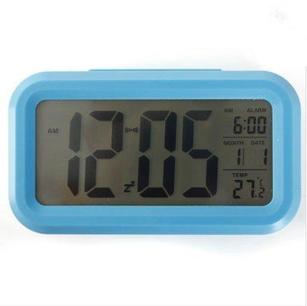 Bluelover LED Digital Lcd wekker tijd kalender thermometer snooze achtergrondverlichting