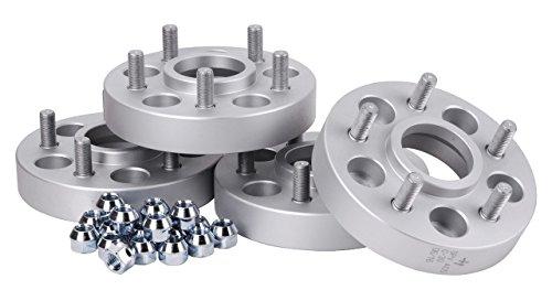 Hofmann Spurverbreiterung Aluminium 4 Stück (23/25 mm pro Scheibe / 46/50 mm pro Achse) inkl. TÜV-Teilegutachten~