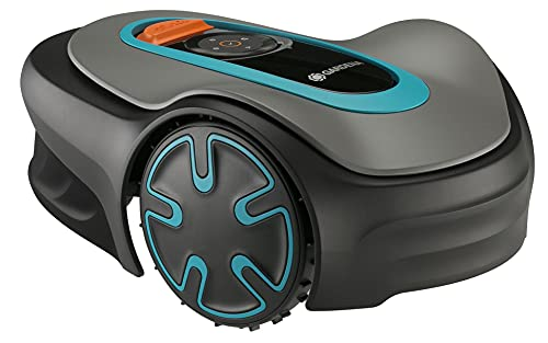 GARDENA SILENO Minimo – Fully Automatic Robotic Lawnmower with Bluetooth App, quietest in The Market, Boundary Wire Included, for lawns up to 2700 sq. ft.