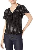 Marque Amazon - Goodthreads Fluid Twill Covered-button Short-sleeve Shirt - dress-shirts - Femme