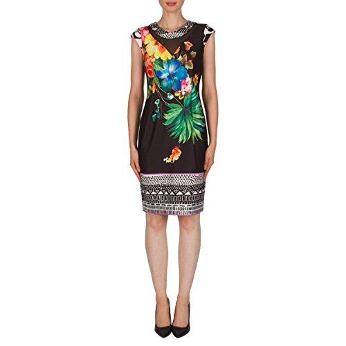 Joseph Ribkoff Tropical Floral Print Cap Sleeve Dress Style 181710 Size 20