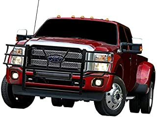 BLACK HORSE Rugged Grille Guard Compatible with 2017 to 2019 Ford F-550 F-450 F-350 F-250 Black Steel F550 F450 F350 F250 Push Protect Shiled Front Bumper Headlight Brush RU-FOF217-B