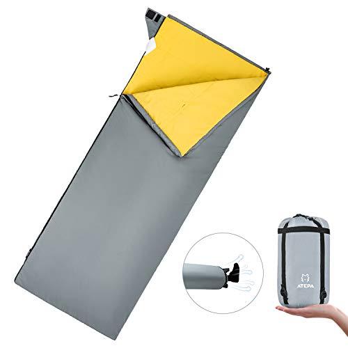 ATEPA 3 Season Camping Sleeping Bag Lightweight Sleeping Bags for Adults Portable Envelope...