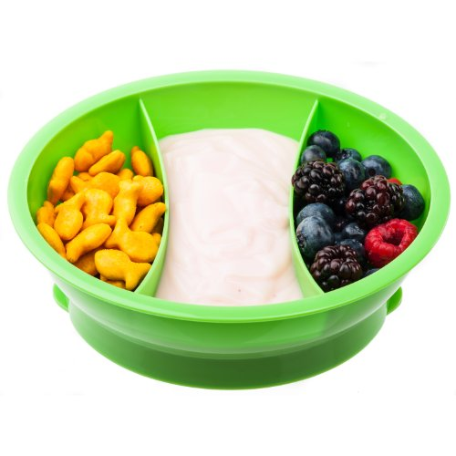 Fit & Fresh - Fresh Starts Chilled Travel Bowl with Lid for Babies and Kids, BPA-Free Divided Container, Perfect for Taking Meals and Snacks On-the-Go, 2 Cups Capacity