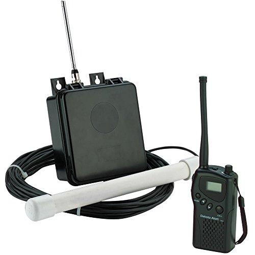 Dakota Alert MAPS-HT-KIT Wireless Driveway Alarm System - MURS Alert Probe Sensor (MAPS) Metal Detecting Transmitter with 50-FT of Direct Burial Cable and Handheld M538-HT VHF Transceiver