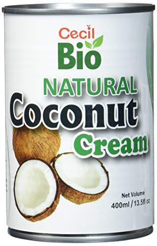 Cecil Bio Crema di cocco, biologica, 22% grassi, 400 ml, confezione da 3