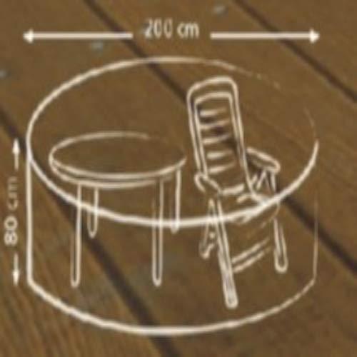 ACAMP Abdeckung für Outdoor Gartenmöbel rechteckig 210x160 cm – schützt vor Wind, Regen und Sonneneinstrahlung – robuste Schutzhülle mit perfektem Sitz
