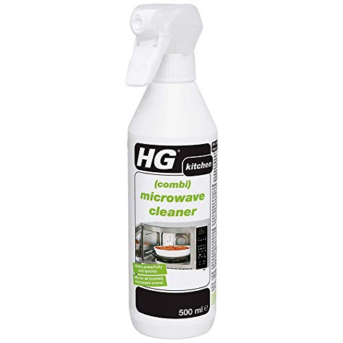 HG Combi Microwave Cleaner 500 ml – Removes Grease and Cake-on Food - for...
