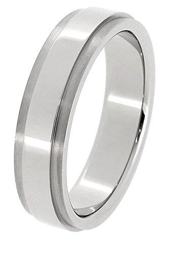 [フェフェ]fe-fe×phiten [特 別 仕 様] ファイテン 平打ち サイドラインカット チタン リング 15〜23号 (15号) メンズ シンプル 指輪