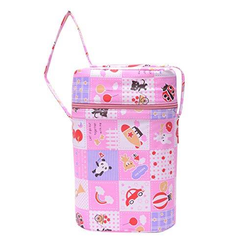 Fancy Walas Presents Portable Infant Feeding Milk Food Bottle Thermal Warmer Bag Storage Holder (Upto 240ml X2 Bottles) (Pink)