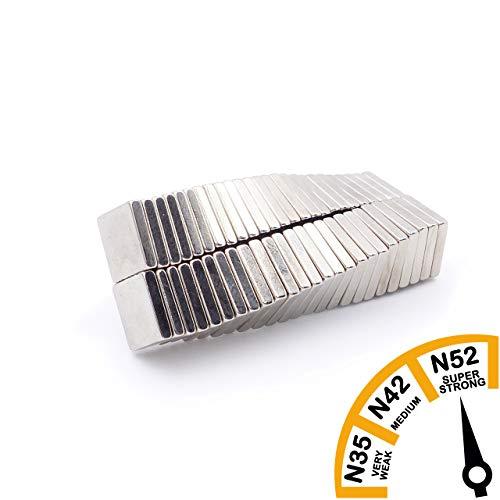 Brudazon | 75 neodymium magneten 10x2mm | ultrasterk – N52 sterkste niveau | Power magneet voor whiteboard, prikbord, koelkast | blokmagneet klein & sterk