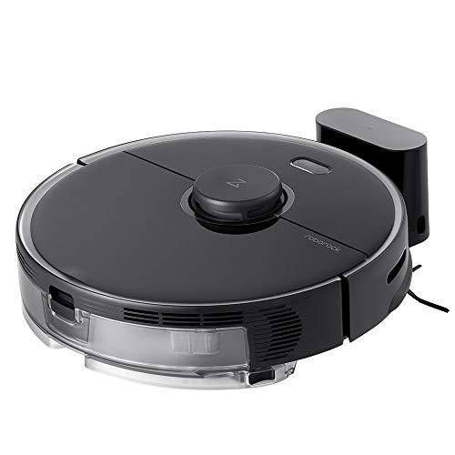 S5 Max Aspirapolvere robot VSLAM Sensore laser Sweep Mop Programma di pulizia completo 2 in 1 Adatto a tutti i pavimenti, compresi i tappeti Carica intelligente(Nera)