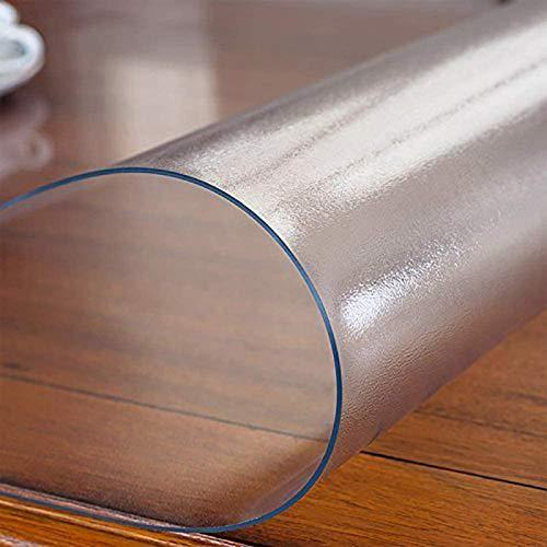 AWSAD Almohadilla Transparente Mate PVC Espesado Oficina Estera de La Silla de la Computadora Protector de Alfombra de Plástico Silla Rodante Alfombra de Escritorio, 3 Espesores