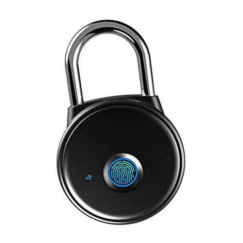 DSENIW QIDOFAN Fingerprint Lock Smart Fingerprint Padlock Ideal for Gym Luggage Backpack Employee Locker Bike Suitcase Fence Hasp and Storage Bike Accessories