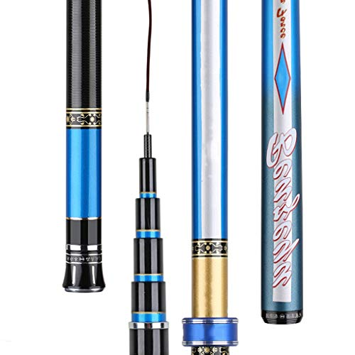 William 337 Fishing Rod Ultra Light Super Hard Long Section Portable Fishing Fishing Gear 5.7 Metri Accessori gratuiti (Size : 4.8m 5Festival)
