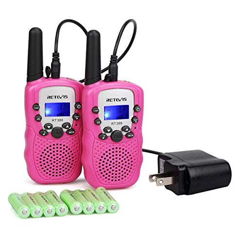 Retevis RT-388 Kids Walkie Talkies Rechargeable 22CH Toy Girls Pink Walkie...