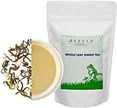 Jarved 100% Organic Orthodox Whole Leaf Natural Handmade Assam Green Tea: Single Blend, FTGFOP1 Grade, USDA Certified, Antioxidants Rich(45 Cups, 3.53oz) in Eco Friendly Tin Jar- Farm to Cup