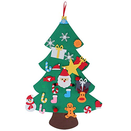 Wifehelper Christmas Tree Large DIY Felt Christmas Tree Handcraft Ornaments New Year Door Wall Hanging Decoration Highlight(E)