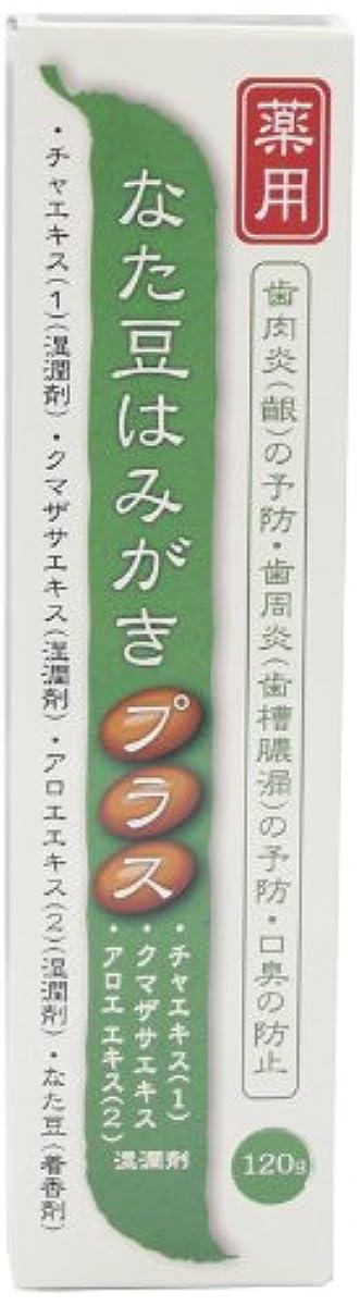 ブラインド期限グレートオークプラセス製薬 薬用なた豆はみがきプラス 120g