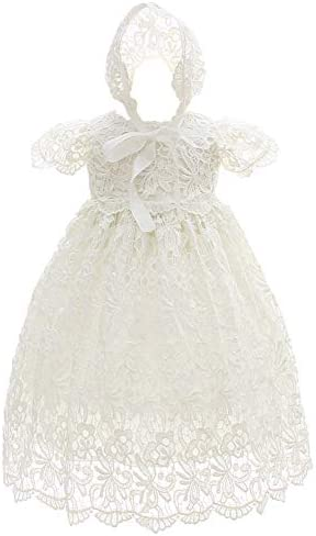 Silver Mermaid Baby Girls Lace Dress Special Occasions Gown Outfit 18M Ivory White product image