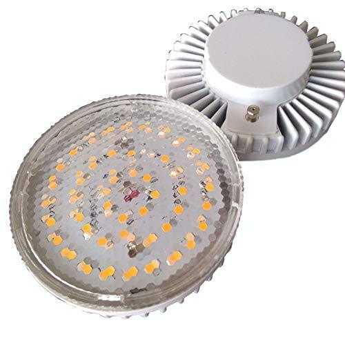 Luci a LED 2pcs LED 5W GX53 Decorative Light La Milky Bianco Cappuccio Bianco Cassa in Plastica Base Alluminio 5W GX53 (Size : Warm White)