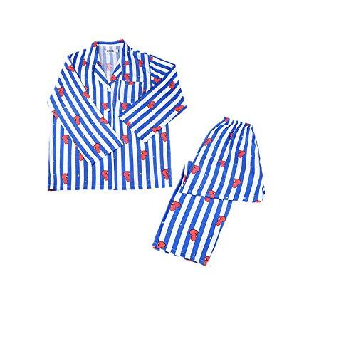 Tier-Cartoon-Pyjama-Set, Polyester, für Jungen und Frauen, niedlich, für Zuhause, Harajuku, Nachtwäsche Gr. Small, TATA