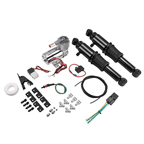 Rear Air Adjustable Ride Suspension Kit for Touring Street Glide Road King Electra Glide 1994-2019 2020