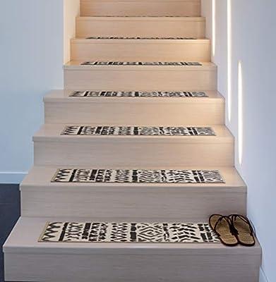 Rugshop Bohemian Design Geometric Non-Slip Stair Treads