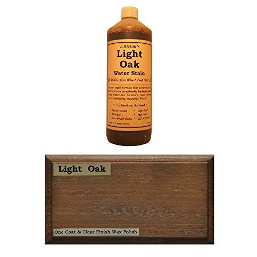 Littlefairs umweltfreundliche wasserbasierte Holzlasur und Farbe - Traditionelles Sortiment (250ml, helle Eiche)