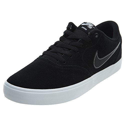 Nike Men's SB Check Solar Canvas Premium Skateboarding Shoes (8 D(M) US, Black/Black-White)