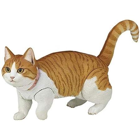 Yifuty かわいい猫の可動モデルフィギュア兵士1/12人形ボディシミュレーション動物、シーンアクセサリーアニメ化人形の装飾白い猫/オレンジキャットの高さ100mm (Color : Orange)
