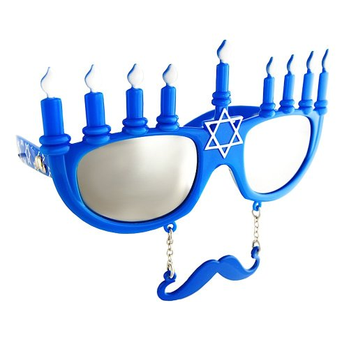Costume Sunglasses Menorah Sun-Staches Party Favors UV400