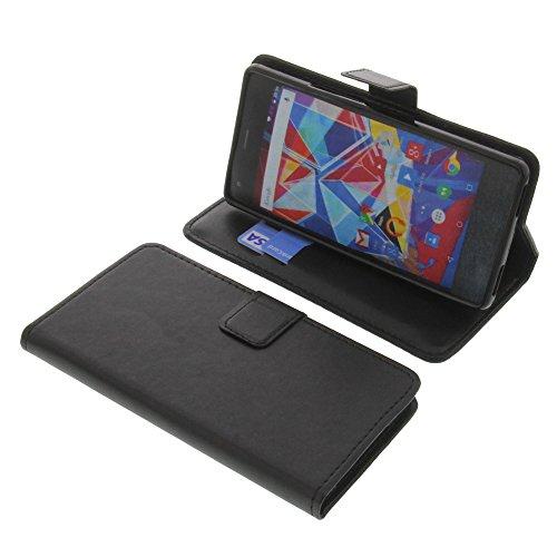 foto-kontor Tasche für Archos Diamond S Book Style schwarz Schutz Hülle Buch