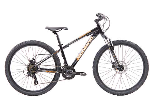 F.lli Schiano Ghost PRO, Bici MTB Uomo, Nero-Arancio, 26''