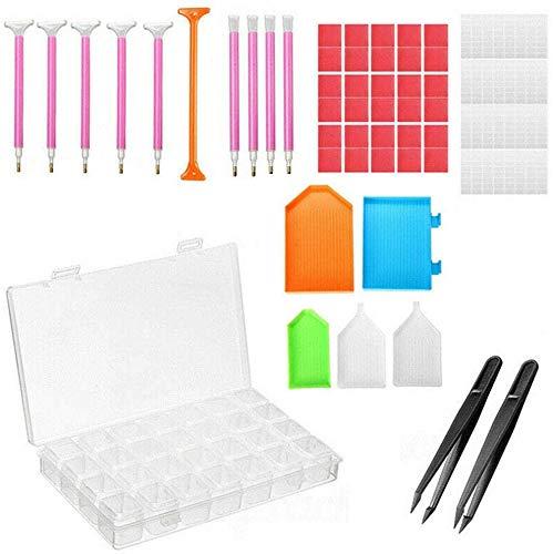 66 piezas de herramientas de pintura de diamantes y accesorios que incluyen...