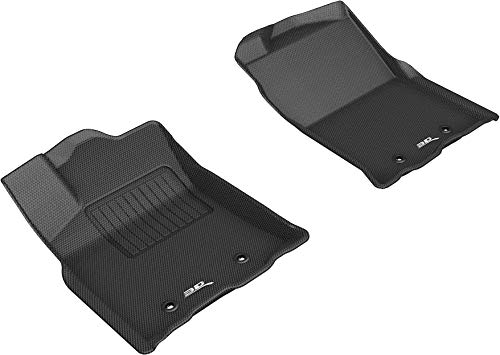 3D MAXpider All-Weather Floor Mats for Toyota Tacoma Access Cab/Double Cab 2018-2020 Custom Fit Car Floor Liners, Kagu Series (1st Row, Black)