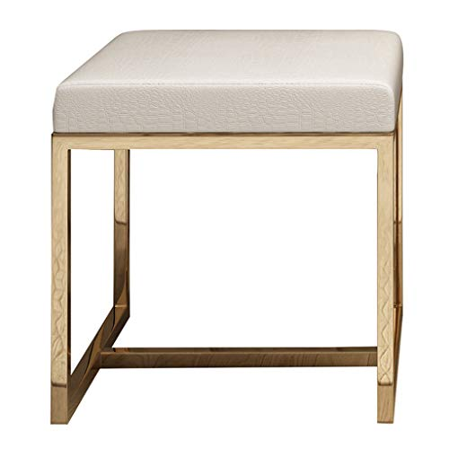 Dressing tafel kruk met roestvrij staal frame, eenvoudige creatieve schoen bank, Piano kruk, voet stoel rust voor woonkamer kantoor & slaapkamer