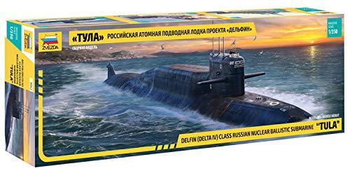 Zvezda ZS9062 Modellino Veicolo da Guerra In Plastica da Montare, Delfin Class Russian Nuclear Ballistic 'Tula', Scala 1:350