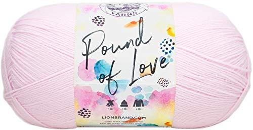 Lion Brand Yarn 550-101A Pound of Love Yarn, One Size, Pastel Pink