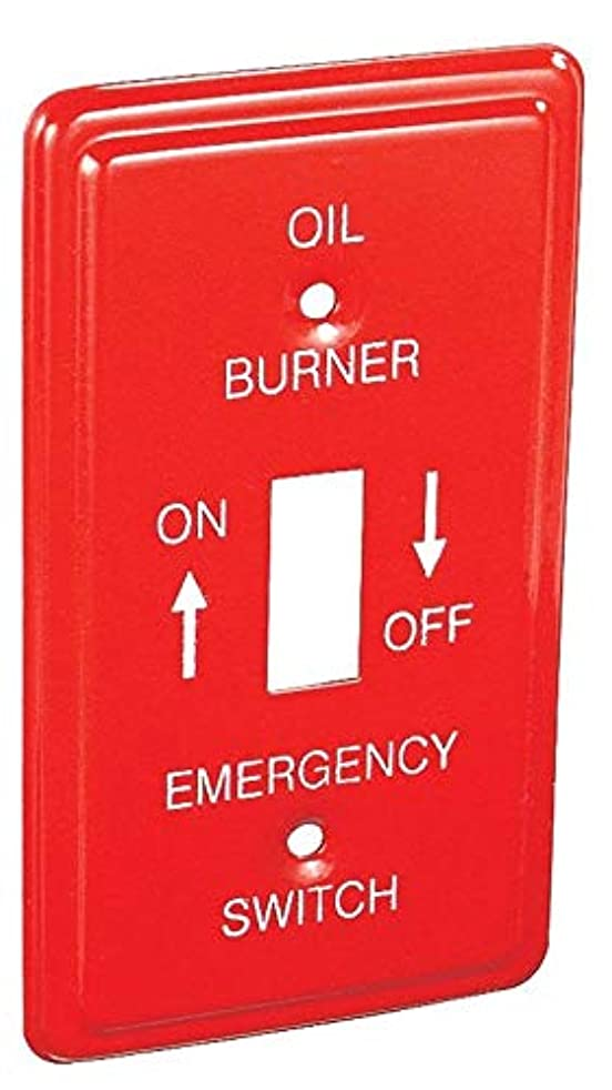 1 pc Red Metal Emergency OIL Burner Handy Utility Box Cover 1-Gang Toggle Switch