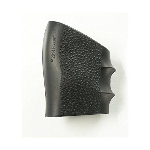 FIXXXER Full Size Grip Sleeve (Fits Glock, S&W, Sigma, SIG Sauer, Ruger, Colt, Beretta Models and More.) (Black)