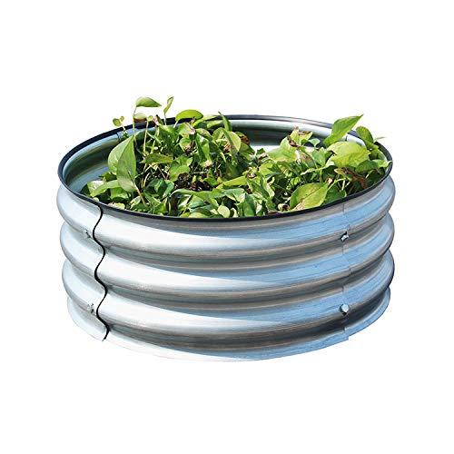 yshardware Raised Beds for Garden, Galvanized Steel Raised Garden Beds...