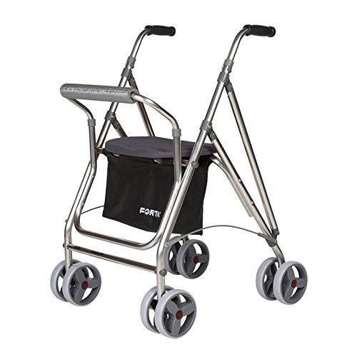 Andador personas mayores | Rollator aluminio asiento