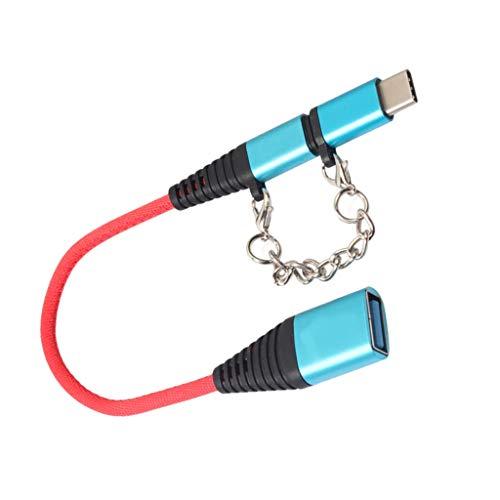 sharprepublic Cable Micro 5Pin OTG Cable Micro USB Y Tipo C - Azul