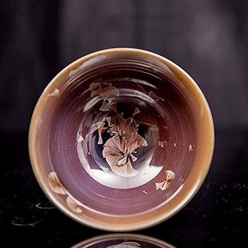 lqgpsx Juego de té 100Ml Boutique Horno Cambios Taza de té Cerámica Gruesa Cuenco de té Juegos de té Vajilla de té Decoración Creativa para el hogar-D,Juego de té de Regalo