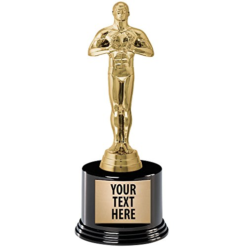 "Crown Awards Oscar Style Trophy Ships Prime, Measures 8.5"" and Features Your Free Engraving"