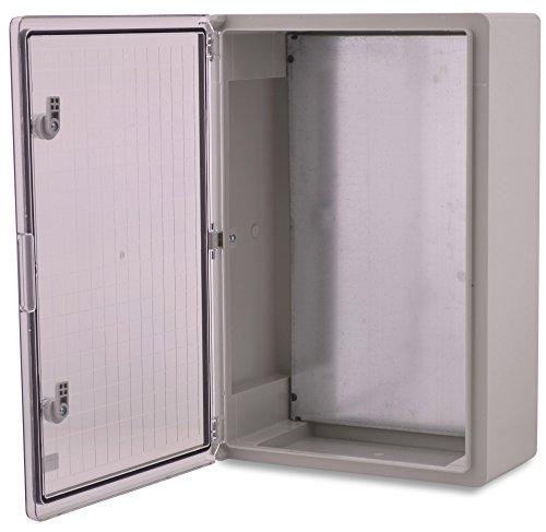 Caja de plástico ABS BOXEXPERT Caja de control de la flota IP65 gris/transparente (ABS, 600x400x200mm con puerta transparente)