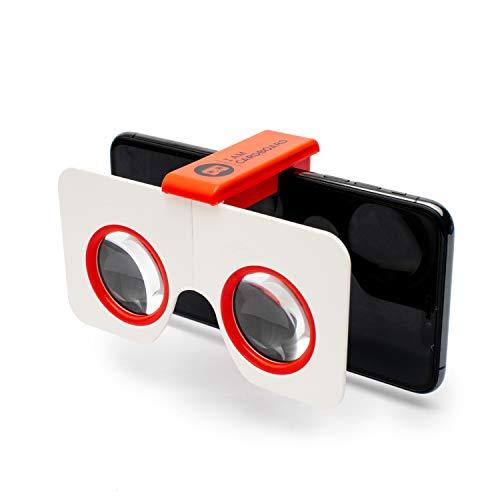I AM CARDBOARD VR Gafas de Bolsillo Mini Pocket 360 | Las Mejores Google Cardboard Gafas Realidad Virtual | Inspirado en Google Cardboard V2 | Regalo Viaje Pequeño y único por Menos de 17€ (Orange)