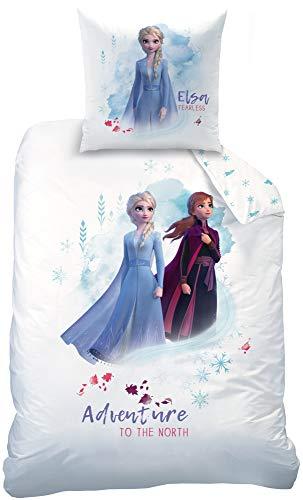 Beronage Disney Frozen 2 - Juego de cama infantil (135 x 200 cm + 80 x 80 cm, 100% algodón, renforcé), diseño de Frozen