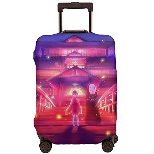 Anime Spirited Away - Funda protectora para maleta, lavable, diseño de impresión 3D, 4 tamaños para la mayoría de equipaje con cremallera